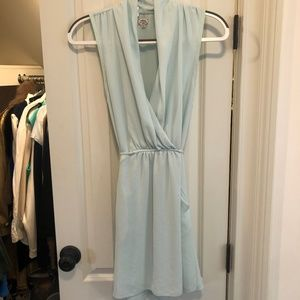 Aritzia Wilfred Sabine Dress in Mint Blue
